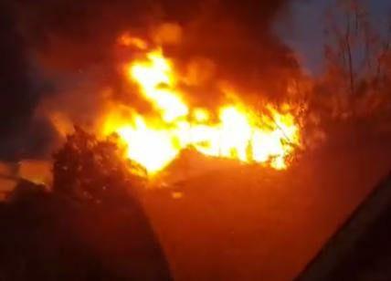 """Agropoli, incendio in localita' """"fuonti"""""""