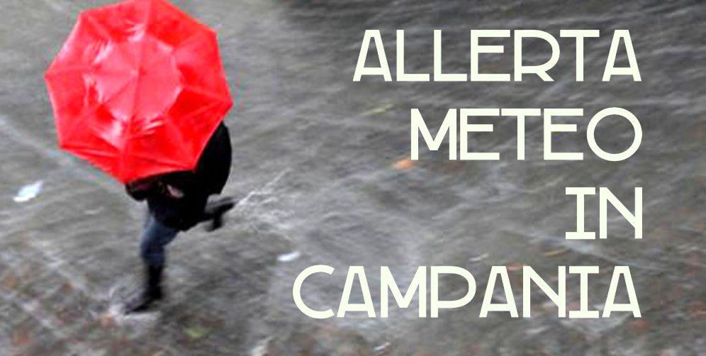 allerta meteo 1 - Continua fino a giovedi' l'allerta meteo in Campania