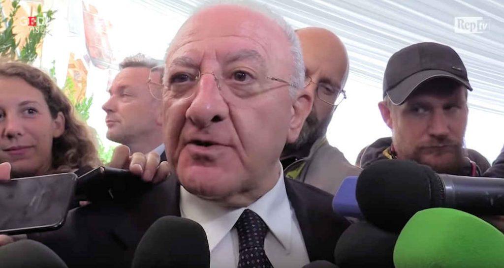 De Luca la situazione sull'avanzamento dei lavori della linea ferroviaria AV/AC Napoli-Bari – video