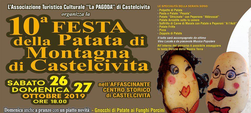 Castelcivita, 10° festa della Patata di Montagna – dal 26 al 27 Ottobre 2019