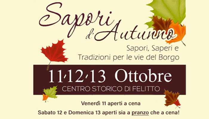 Felitto, 13° Sapori d'autunno – dal 11 Ottobre al 13 Ottobre 2019