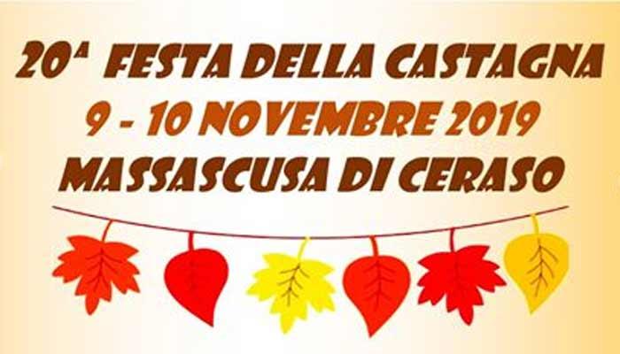 Massascusa di Ceraso, 20° Festa della castagna – 9 e 10 novembre 2019