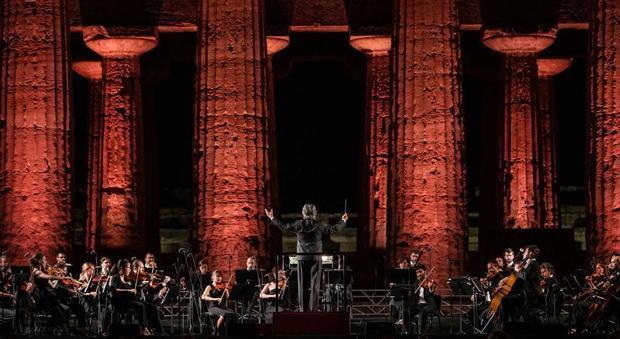 Parco Archeologico di Paestum, il concerto di Muti su Rai Uno – 23 Luglio ore 23.15