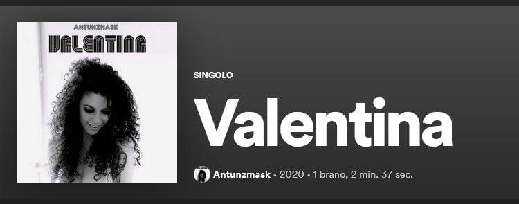 """Il Cilentano Antunzmask torna con un nuovo singolo: """"VALENTINA"""""""