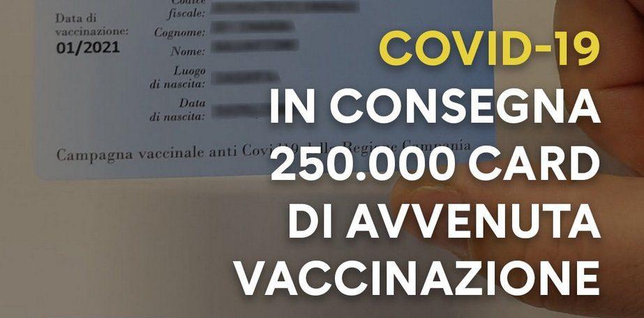 Card Vaccini della Campania in consegna, i commenti degli utenti di fb – :)