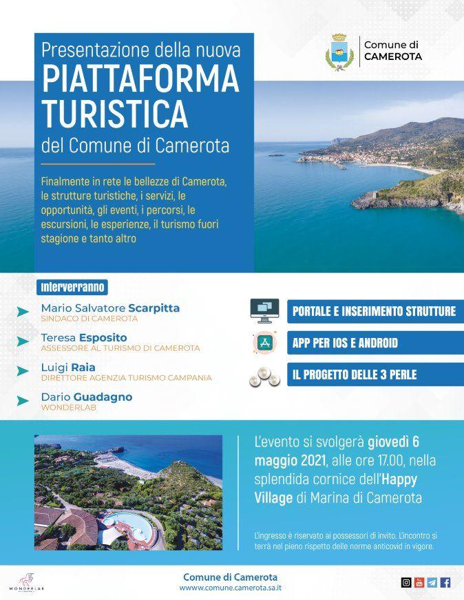 02052021 locandina web - Camerota, presentazione piattaforma turistica - 6 maggio