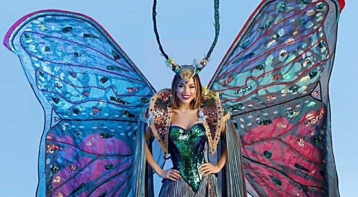 Viviana porta un segnale di speranza a Miss Universo