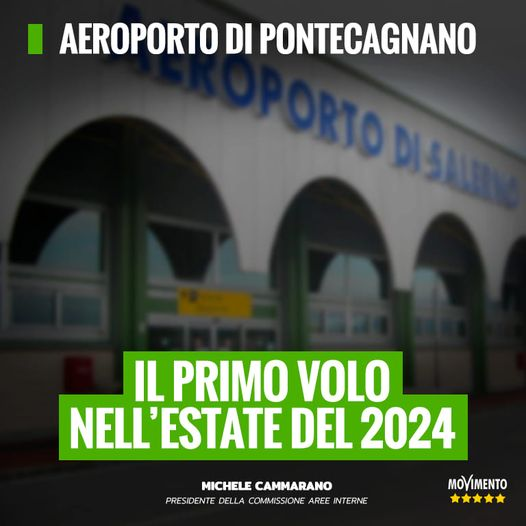 AEROPORTO DI PONTECAGNANO, IL PRIMO VOLO NELL' ESTATE DEL 2024