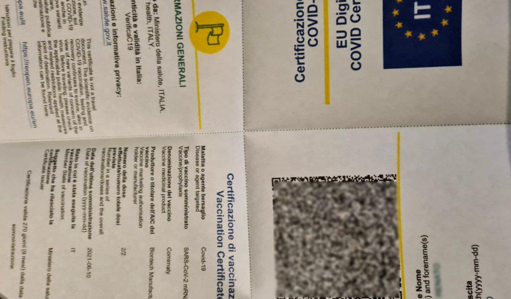 La certificazione verde Covid-19 è disponibile! L'abbiamo scaricata, come si fa