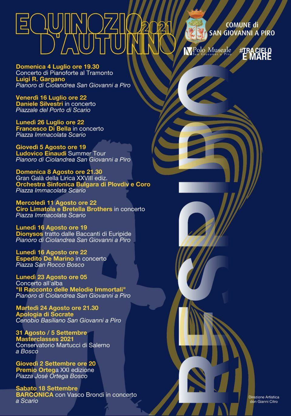 Equinozio Autunno Festival 2021 San giovanni a Piro CilentoConcerti Don Gianni Citro Programma 960x1373 - San Giovanni a Piro, Equinozio D'Autunno Festival 2021 - fino al  al 18 Settembre 2021