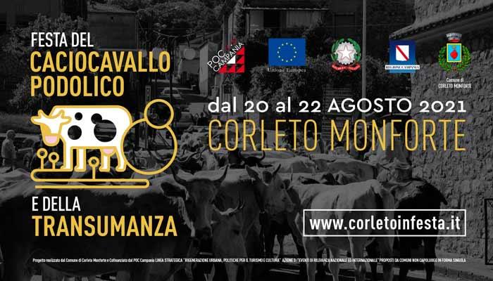 Corleto Monforte, Festa del Caciocavallo Podolico e della Transumanza – dal 20 al 22 Agosto 2021