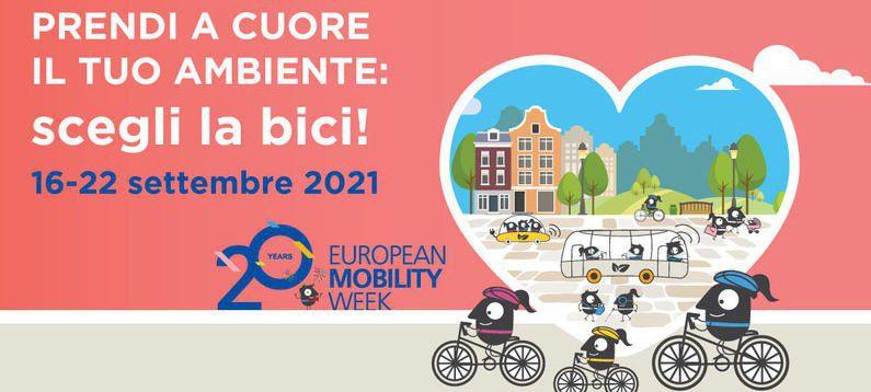 Le iniziative di FIAB-Federazione Italiana Ambiente e Bicicletta per la ventesima edizione della Settimana Europea della Mobilità Sostenibile, dal 16 al 22/9/21